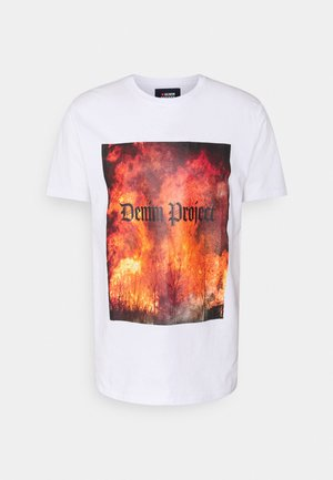 TREE TEE - T-shirt med print - white
