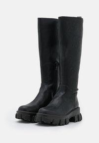 NA-KD - PROFILE SHAFT BOOTS - Platform boots - black - 2