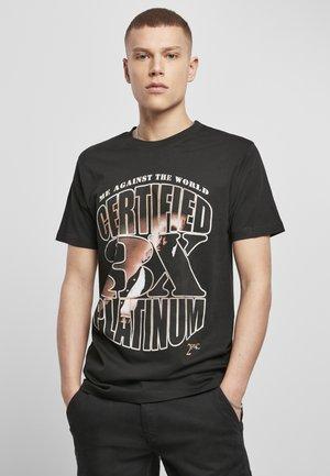 TUPAC ME AGAINST THE WORLD PLATINIUM  - Print T-shirt - black