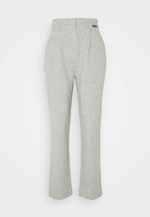 TAILORED TROUSERS - Tracksuit bottoms - grey melang