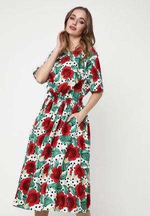 CAMUS - Day dress - weiß/ rot