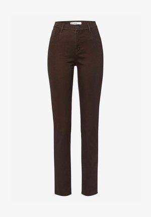 STYLE MARY - Trousers - dark chocolate