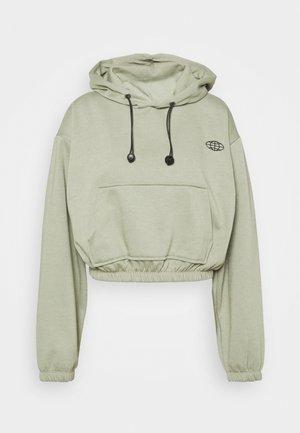 INTERNATIONAL SLOGAN HOODIE - Sweatshirt - green