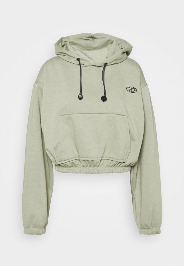 INTERNATIONAL SLOGAN HOODIE - Felpa - green
