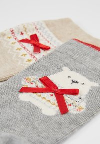 Pretty Polly - POLAR BEAR SOCK/FAIRISLE SOCK - Socks - grey mix/oatmeal mix - 2