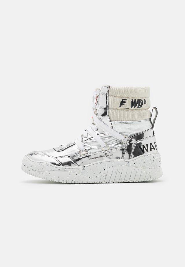 Sneakers hoog - silver/avorio