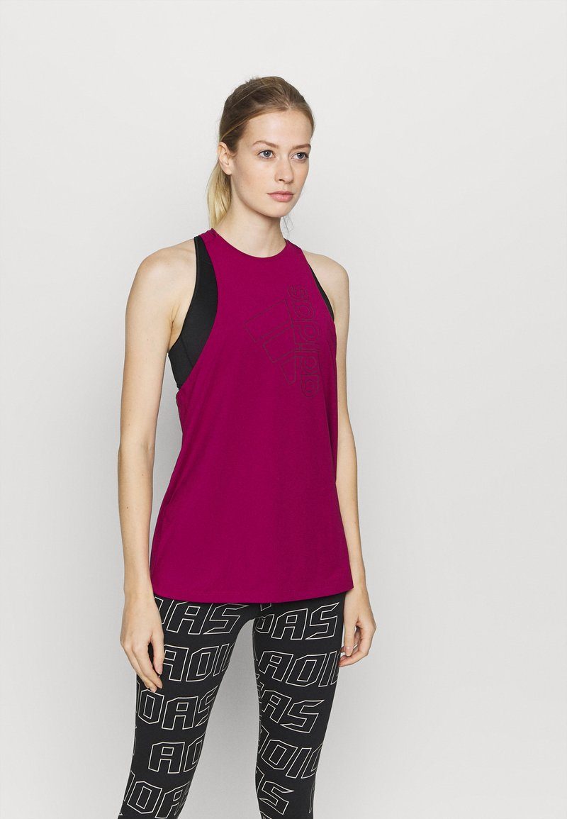 adidas Performance - TECH BOS TANK - Funktionsshirt - berry