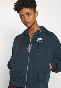 Nike Sportswear - Zip-up hoodie - deep ocean/white - 3