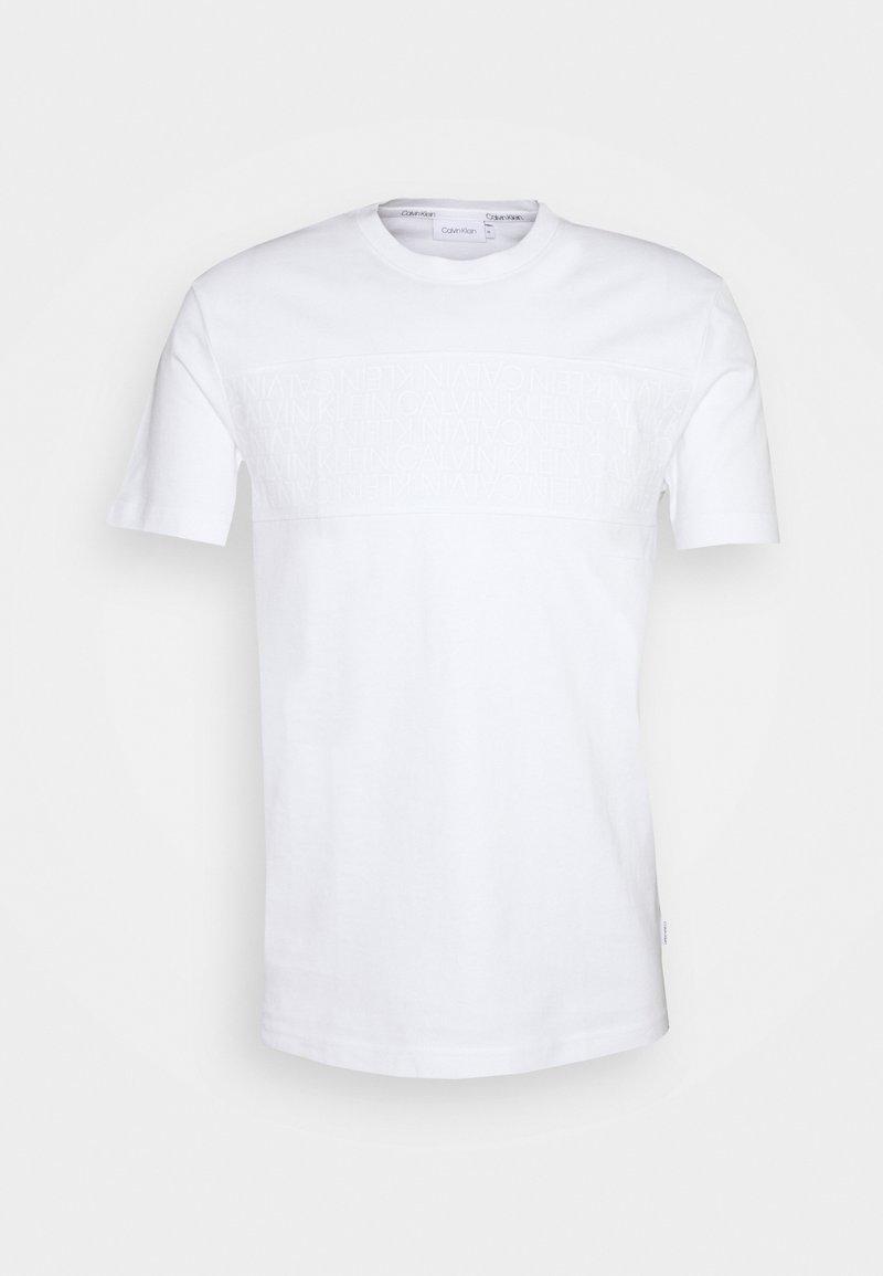 Calvin Klein - LOGO LINES - Print T-shirt - white