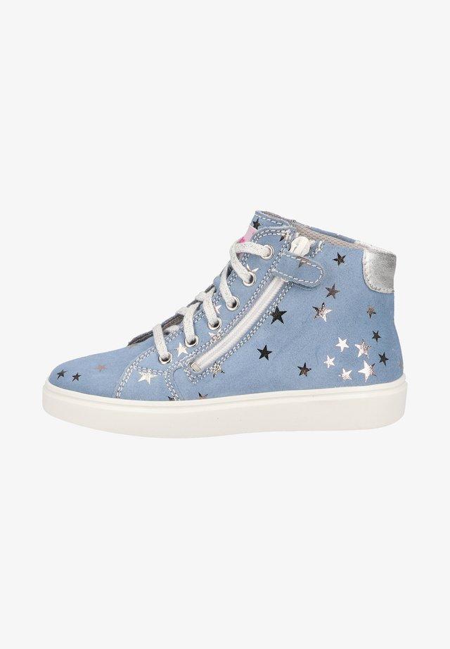 Sneakers hoog - ciel/silver