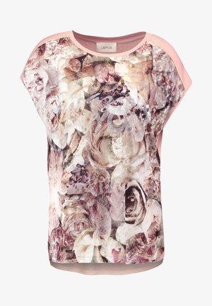 FLORAL MIX - Camiseta estampada - rosé/nature