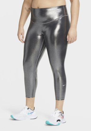 ONE ICON - Leggings - black/black/metallic silver