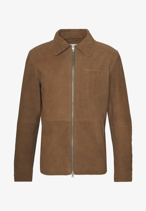 ZIP UP JACKET - Giacca di pelle - walnut