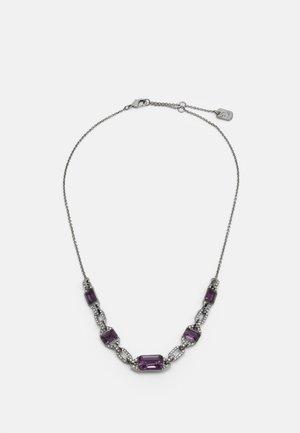 Náhrdelník - gunmetal/purple