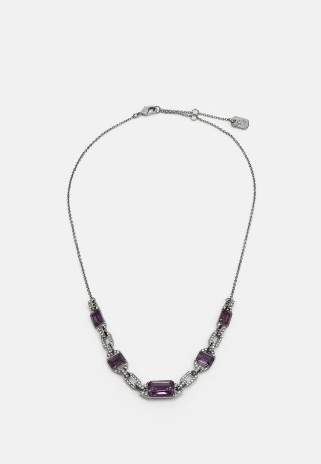Collana - gunmetal/purple