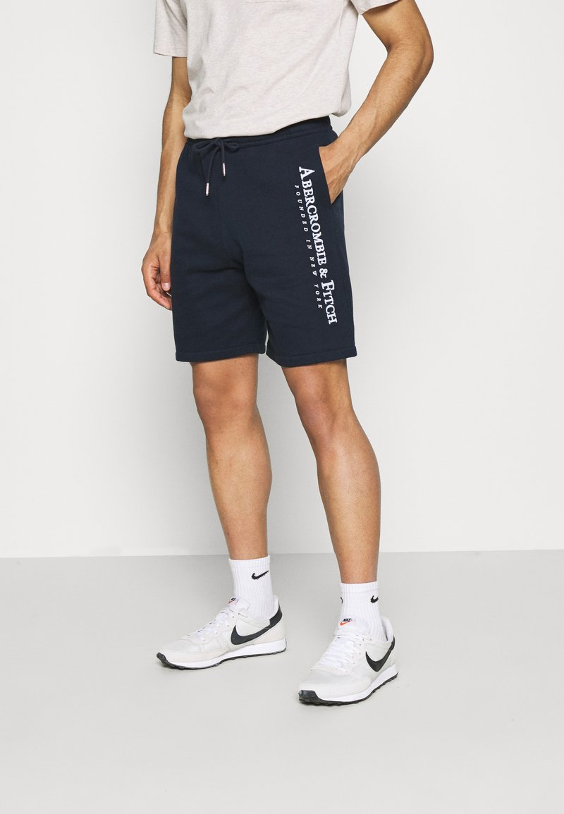 Abercrombie & Fitch - TECH LOGO - Shorts - navy