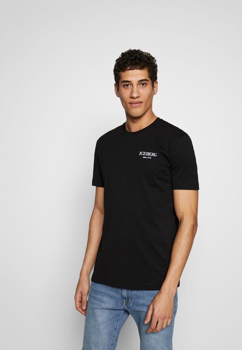 Iceberg - BACK LOGO - T-shirts med print - nero