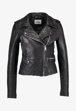 NMNORA JACKET - Leren jas - black