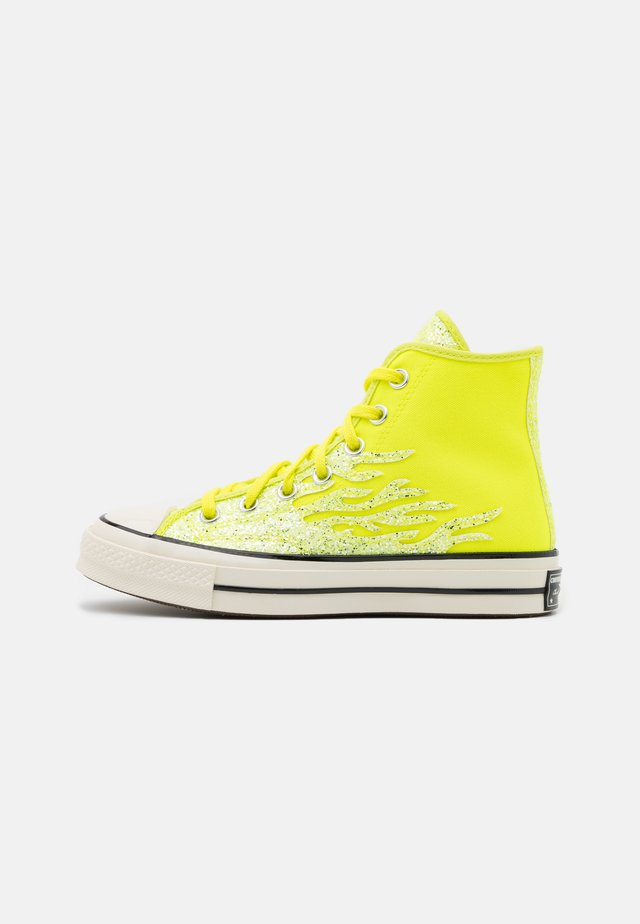 CHUCK ARCHIVE GLITTER - Zapatillas altas - lemon/egret/black