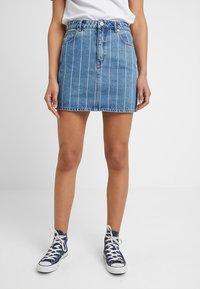 Abrand Jeans - SKIRT - Denim skirt - thunder - 0