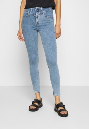 Jeans Skinny - light blue yoke