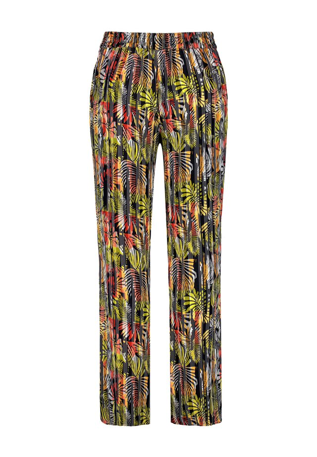 Trousers - lime tree gemustert