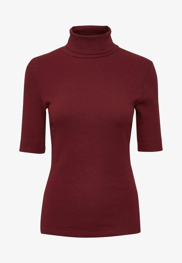 DHZOE - Print T-shirt - cabernet