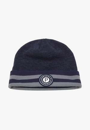 CIRCLE PATCH BEANIE - Mössa - peacoat