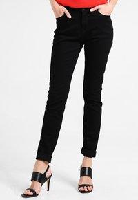 edc by Esprit - HIGH SKIN - Vaqueros slim fit - black rinse - 0