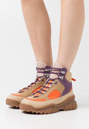 LOVE TREK HIGH  - Lace-up ankle boots - multicolor/beige/viola