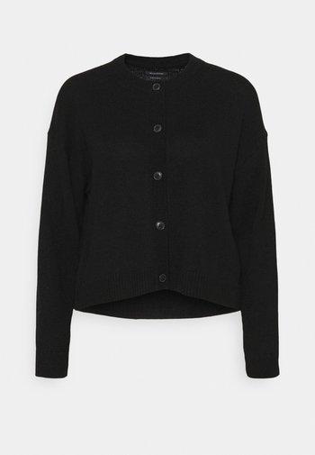 ROUND NECK - Cardigan - black
