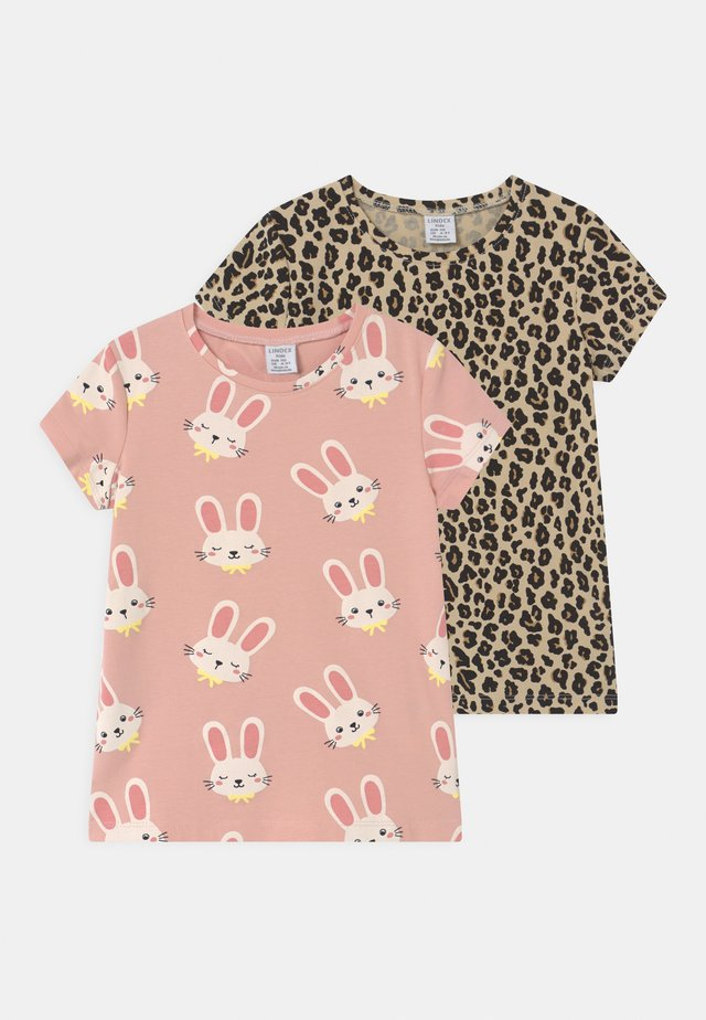 MINI 2 PACK - T-shirt con stampa - light dusty pink