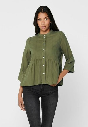 Button-down blouse - martini olive