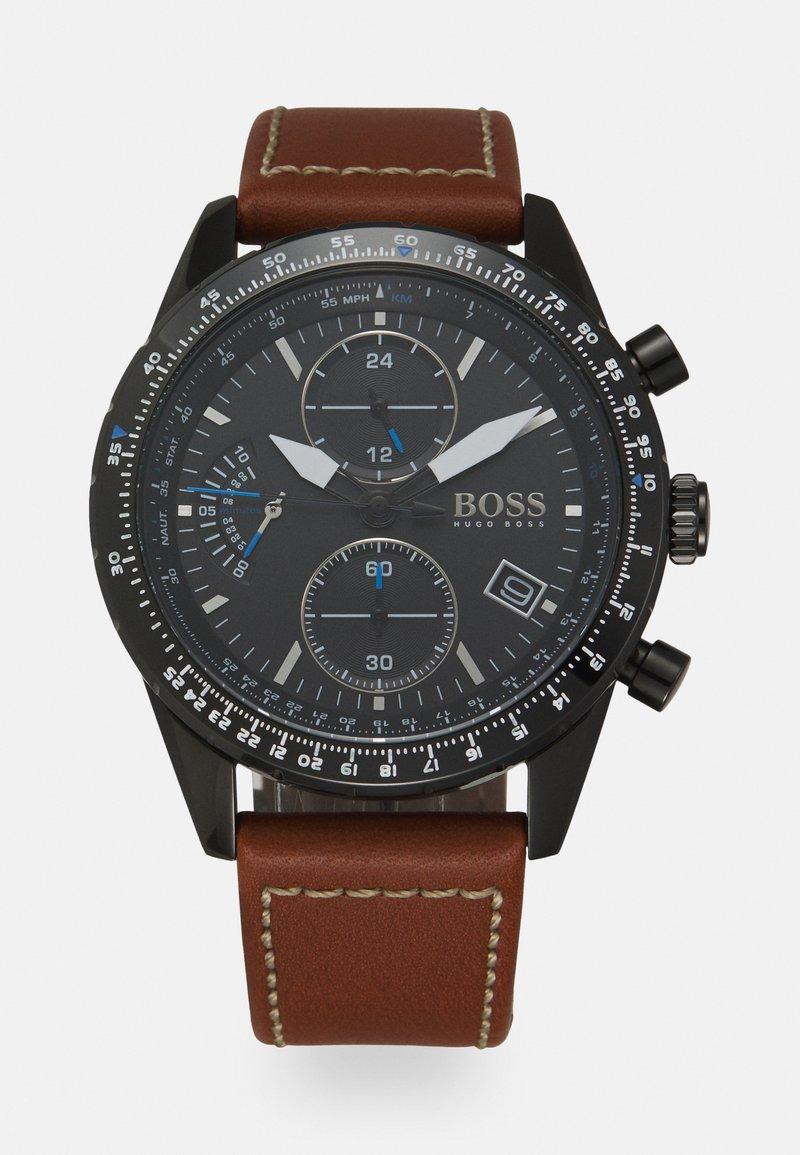 BOSS - PILOT EDITION - Hodinky se stopkami - brown/black