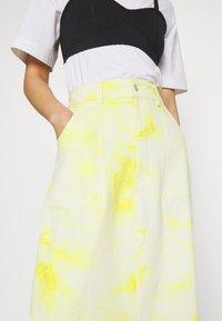 HOSBJERG - RINA TIE DYE SKIRT - A-line skirt - yellow/white - 5