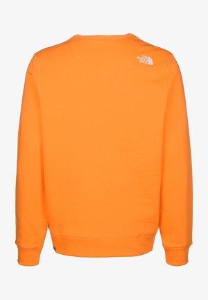 MENS DREW PEAK CREW - Sweatshirt - flame orange
