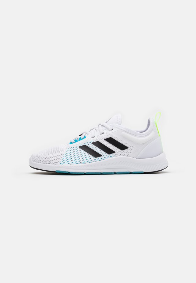 ASWEETRAIN - Kuntoilukengät - footwear white/core black/signal cyan