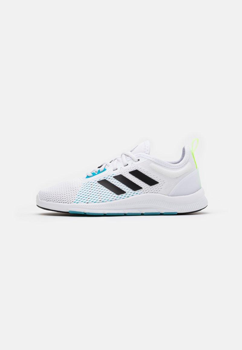 adidas Performance - ASWEETRAIN - Zapatillas de entrenamiento - footwear white/core black/signal cyan