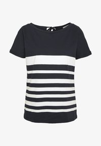 comma casual identity - KURZARM - Print T-shirt - blue - 3