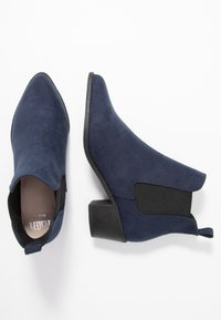 Faith Wide Fit - WIDE FIT WHELSEA - Ankle boots - navy - 3
