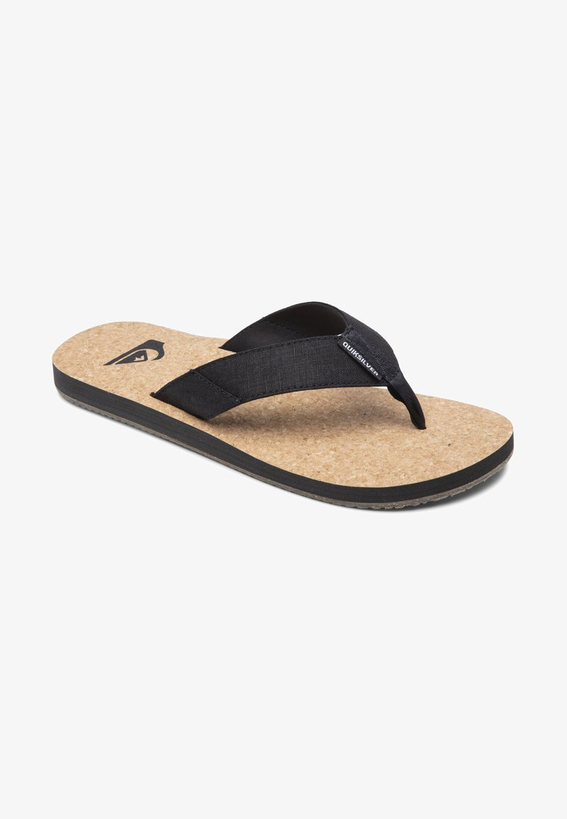 Quiksilver - MOLOKAI ABYSS NATURAL - T-bar sandals - black/brown/brown