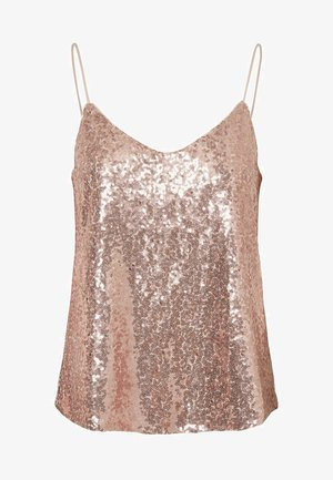 VMPEARL SINGLET - Blouse - sepia rose