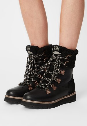 BRANDI - Šněrovací kotníkové boty - black