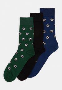 Pier One - 3 PACK - Ponožky - dark green - 0