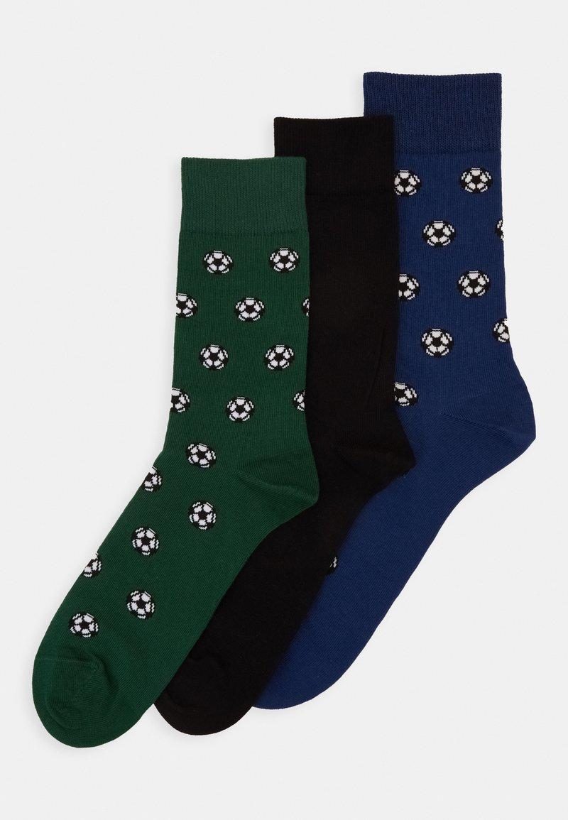 Pier One - 3 PACK - Ponožky - dark green
