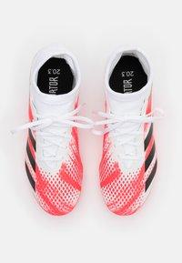 adidas Performance - PREDATOR 20.3 FG - Moulded stud football boots - footwear white/core black/pop - 3