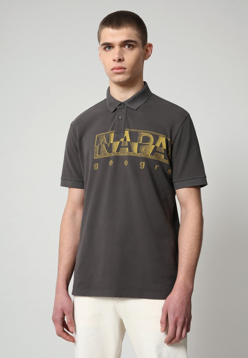 Napapijri - EALLAR - Polo shirt - dark grey solid