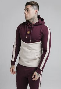 SIKSILK - CUT AND SEW OVERHEAD HOODIE - Hoodie - wine/cream - 0