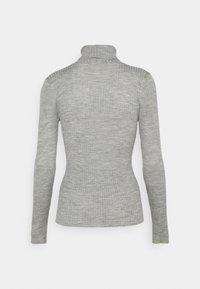 Selected Femme Petite - SLFCOSTINA ROLLNECK - Jumper - light grey melange - 1