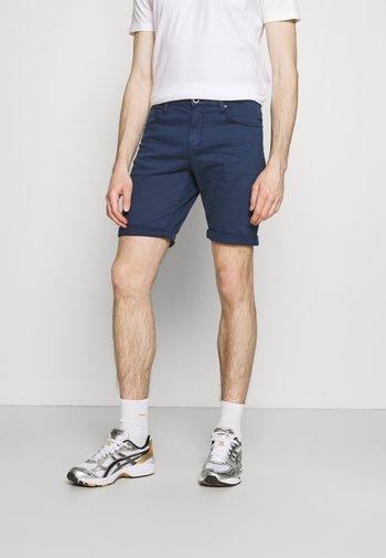 LUCKY FIVE POCKET - Denim shorts - navy